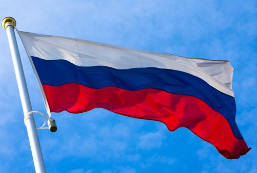 Флаги Российской Федерации и Москвы