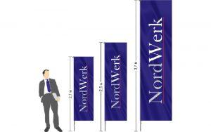 Мобильный флагшток банер Виндер Бриз