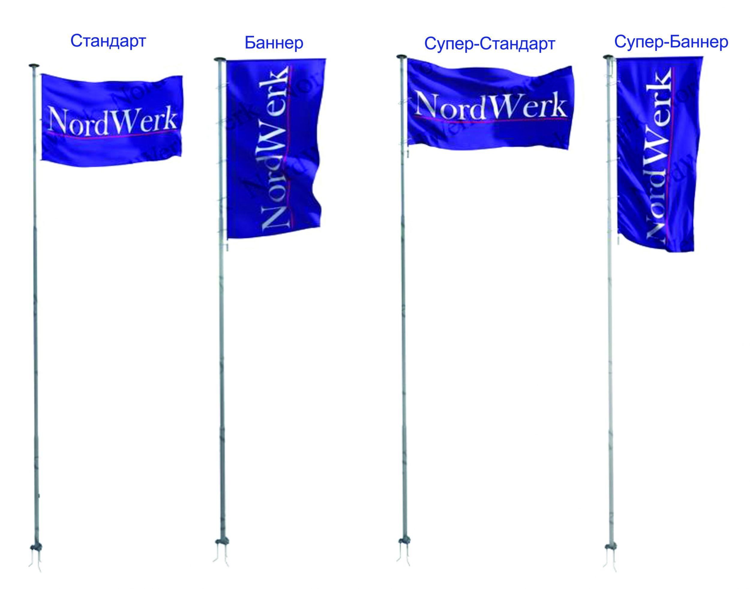 Алюминиевые секционные флагштоки NordWerk