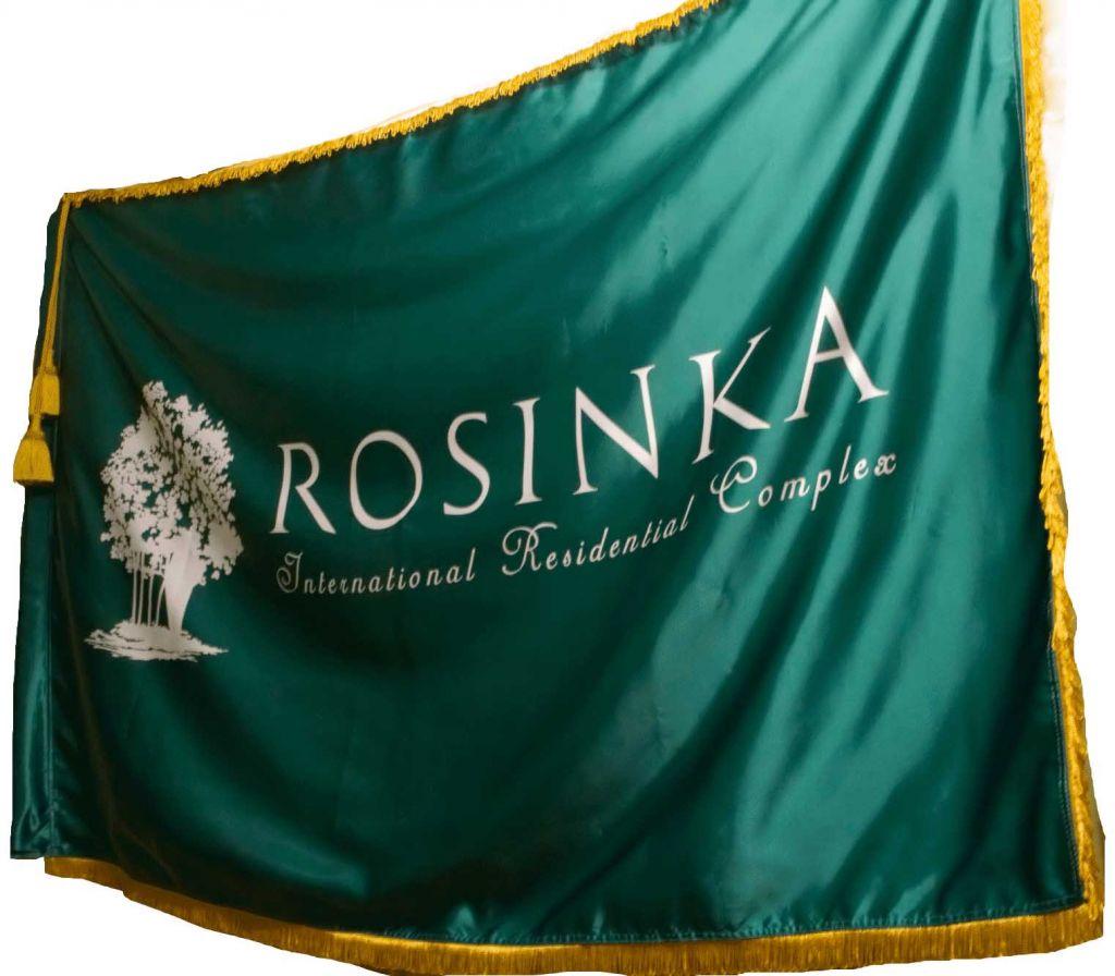 Флаг с бахромой и кистями