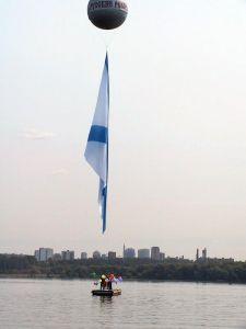 Флаг на воздушном шаре