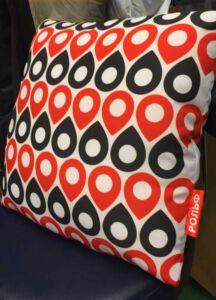 Атласная бирка на подушке