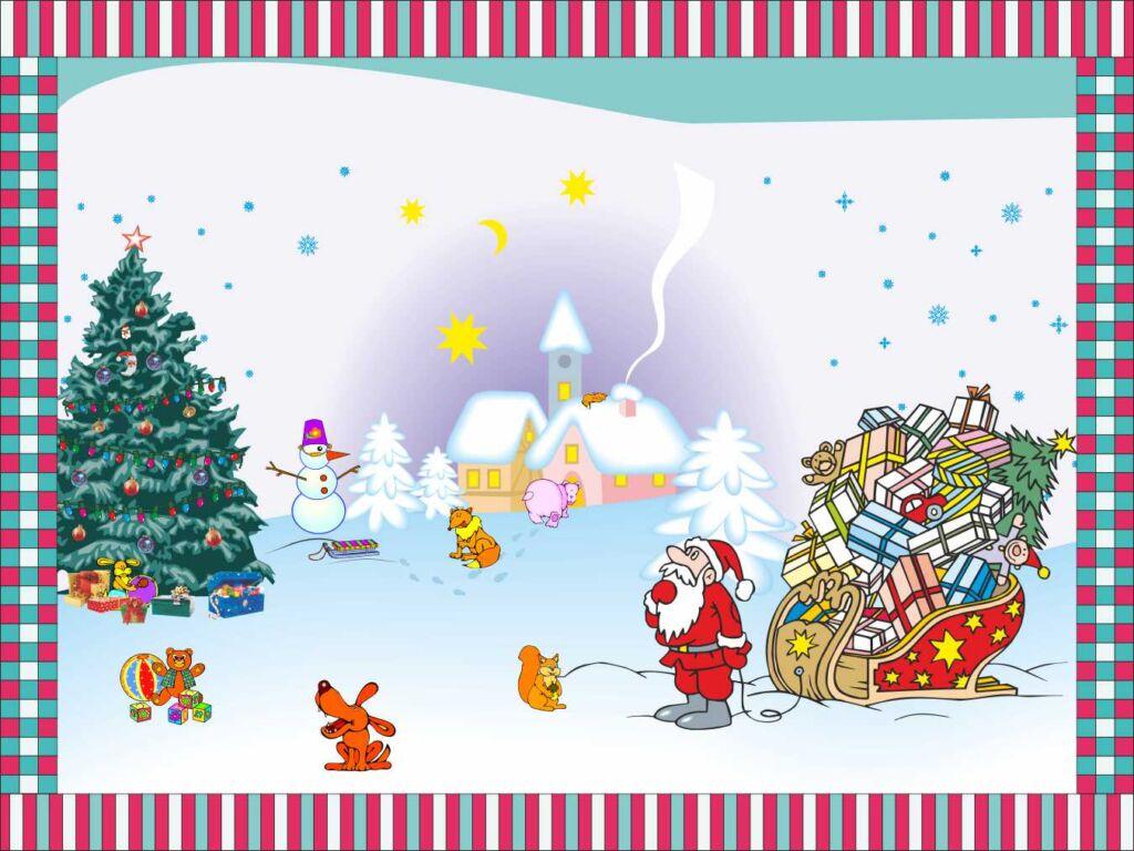 Скатерть Новый год детская